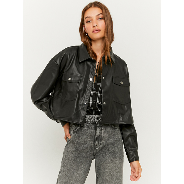 Oversize Jacke aus Kunstleder