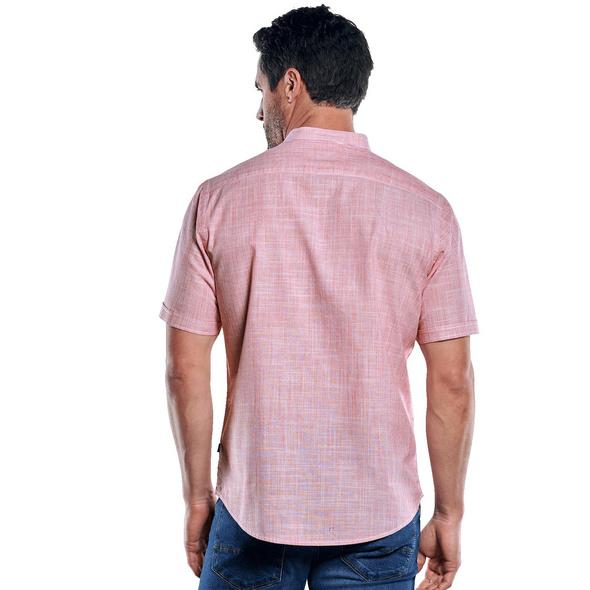 Modisches Stehkragenhemd mit Galon-Streifen