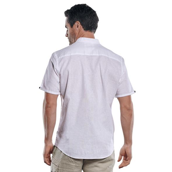 Modisches Leinenhemd mit dezenten Kontrastdetails