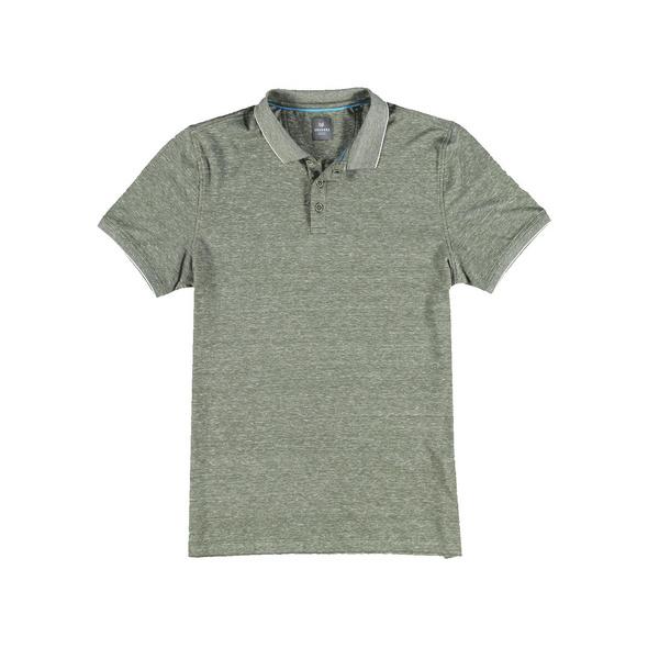 Edles Poloshirt im Leinen-Baumwollmix