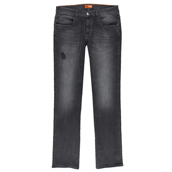 Slim Fit Jeans mit leichten Destroy-Elementen