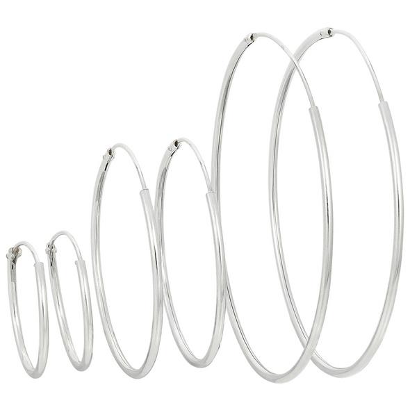 Creolen-Set - Classy Silver