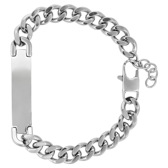 Herren Armband - Silver Nametag