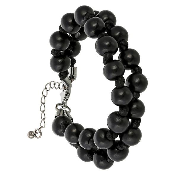 Armband - Black Beads
