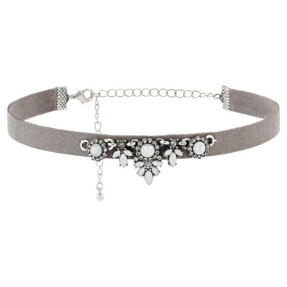 Choker - Grey Jewels