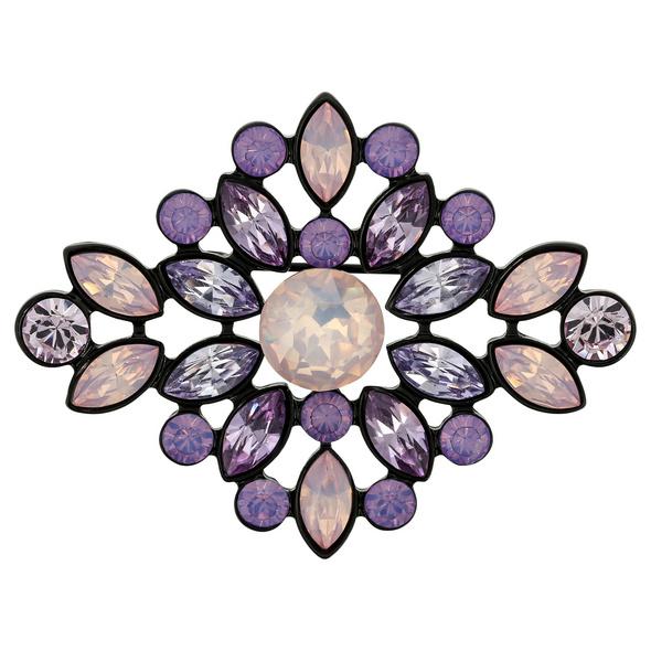 Brosche - Floral Mauve