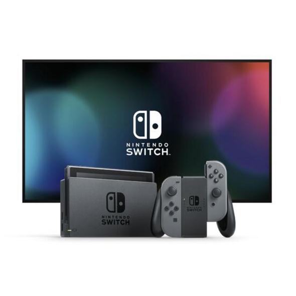 Nintendo Switch Konsole mit verbesserter Akkuleistung Grau