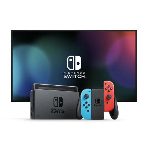 Nintendo Switch Konsole mit verbesserter Akkuleistung Blau / Rot (UK / PEGI)