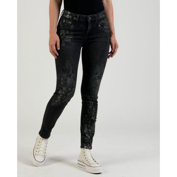Jeans mit besonderem Druck