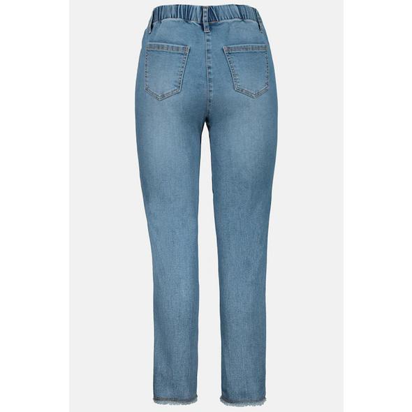 Jeans Julia, Fransensaum, schmales Bein, Gummibund