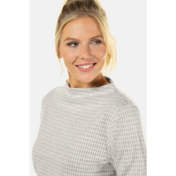 Sweatshirt, Karomuster, Stehkragen, weiche Qualität