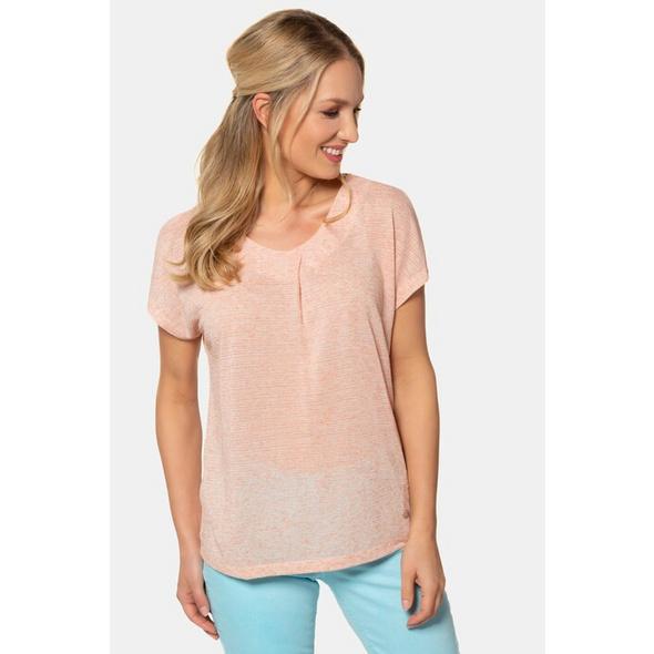 Gina Laura T-Shirt, Zierfalte, V-Ausschnitt