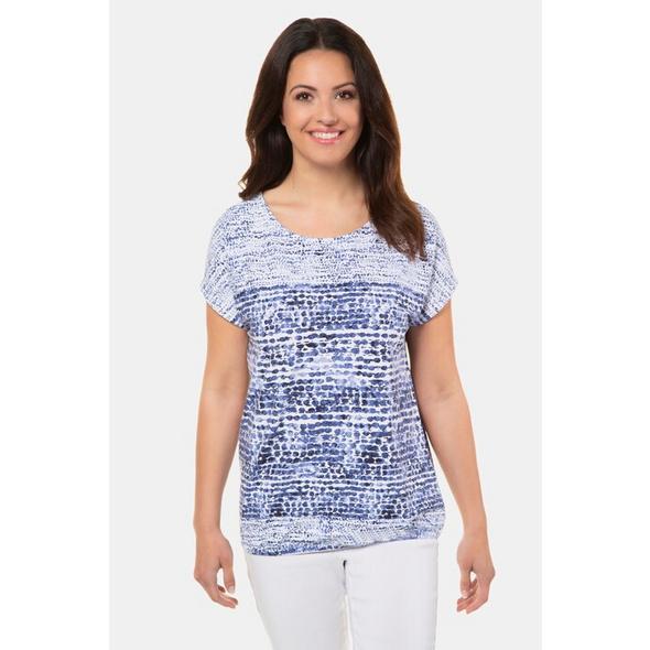 Gina Laura T-Shirt, Punkte, oversized, Elastiksaum