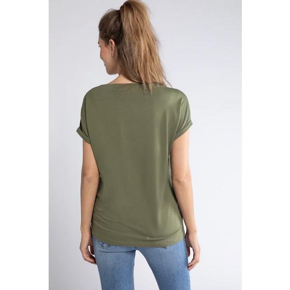 T-Shirt, vorne geblümt, Rücken uni, Ausbrennerjersey
