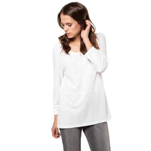 Sweatshirt, 3D-Punkte, Quernaht, Langarm