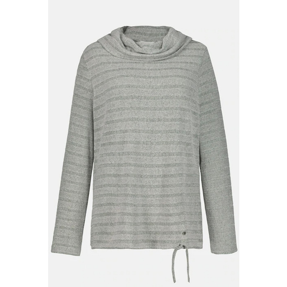 Sweatshirt, flauschig, Streifen, Langarm