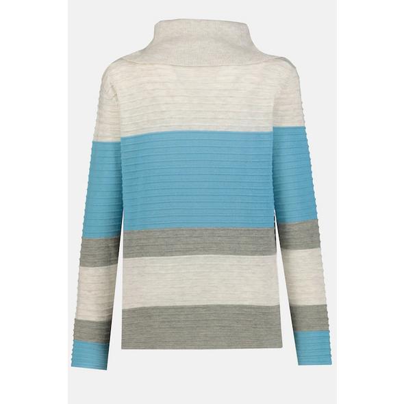 Pullover, Struktur, Streifen, Rollkragen