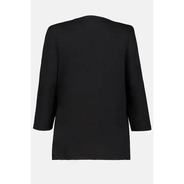 Shirt, Plissee-Falten, 3/4-Ärmel