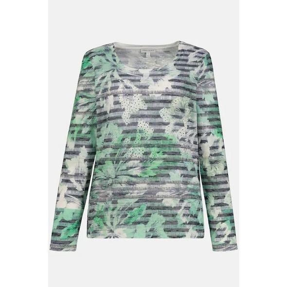 Gina Laura Shirt, Ausbrennerjersey, Blütenstreifen, Langarm