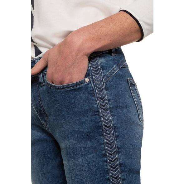 Jeans Tina, Galonstreifen, 5-Pocket, gerader Schnitt