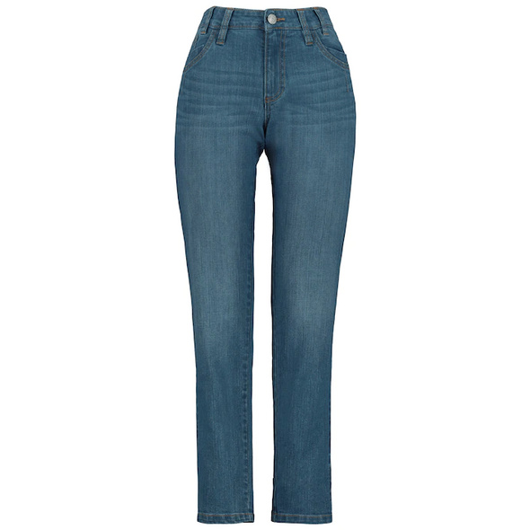 Jeans Tina, Saum-Zierband, 5-Pocket, gerades Bein
