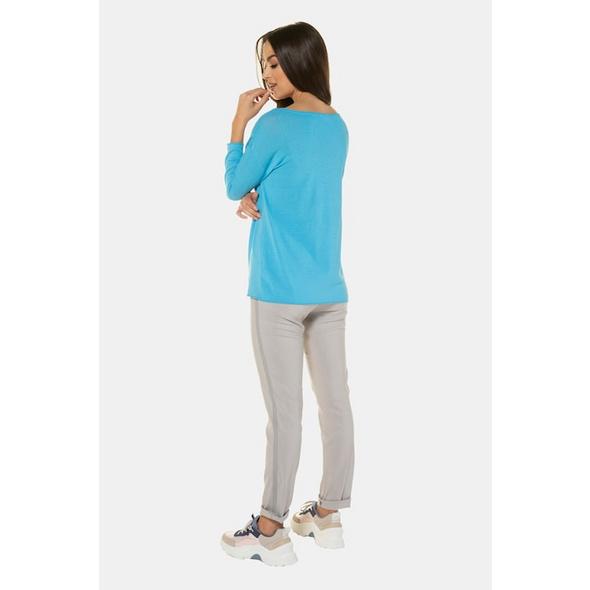 Pullover, Krepp-Strick, Oversized, Rollkanten