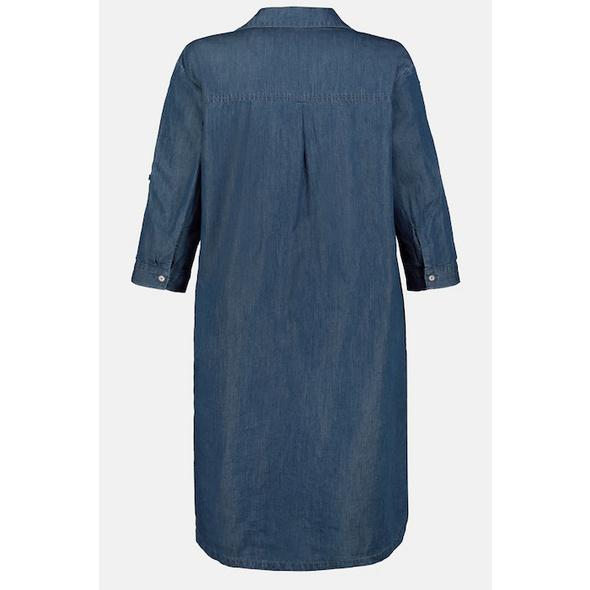 Kleid, Denimoptik, Reverskragen, Lyocell