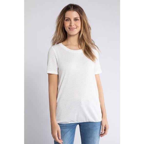 T-Shirt feel good, Ajourmuster,  Halbarm