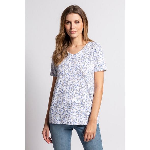 Gina Laura T-Shirt, Blütenmuster, Biobaumwolle