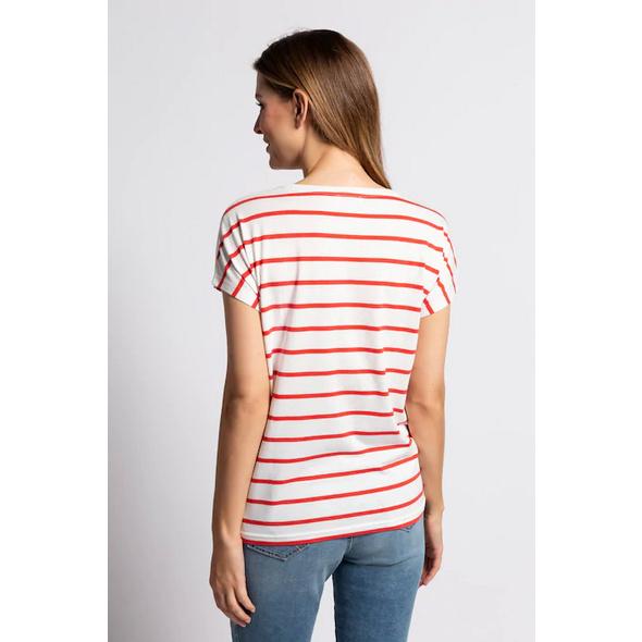 T-Shirt, Streifen, Melonenmotiv, Pailletten, oversized
