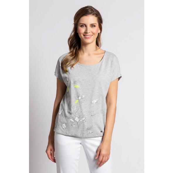 T-Shirt, Magnolienblüten, Pailletten