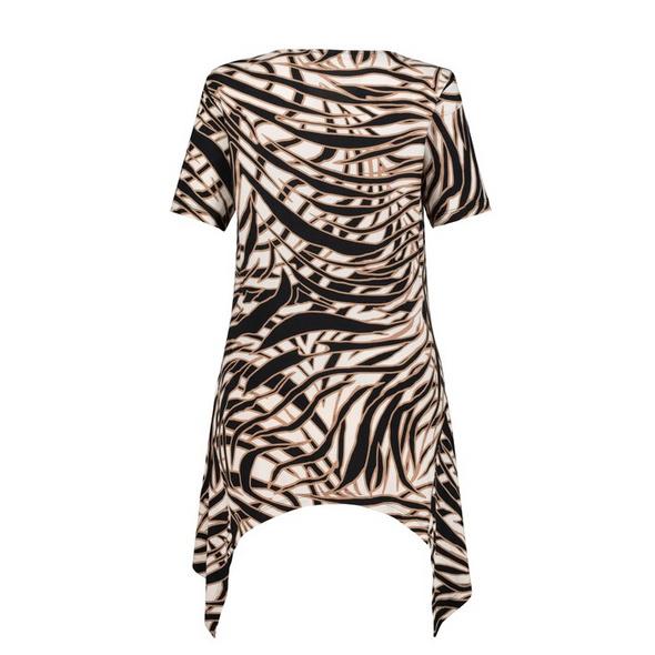 T-Shirt, Zipfelsaum, Viskose, Stretchkomfort