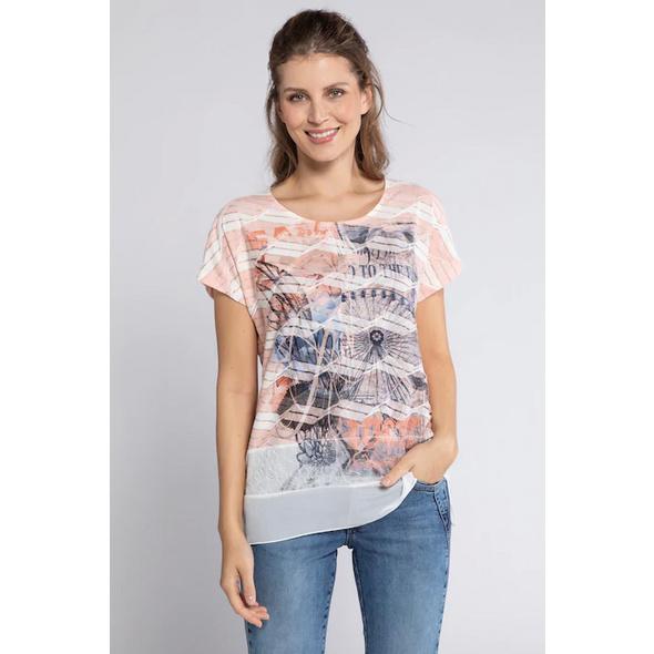 T-Shirt, Riesenradmotiv, Spitzeneinsatz