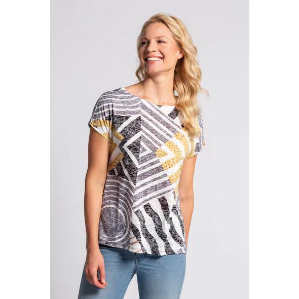 Gina Laura T-Shirt, Mustermix, Ausbrennerjersey