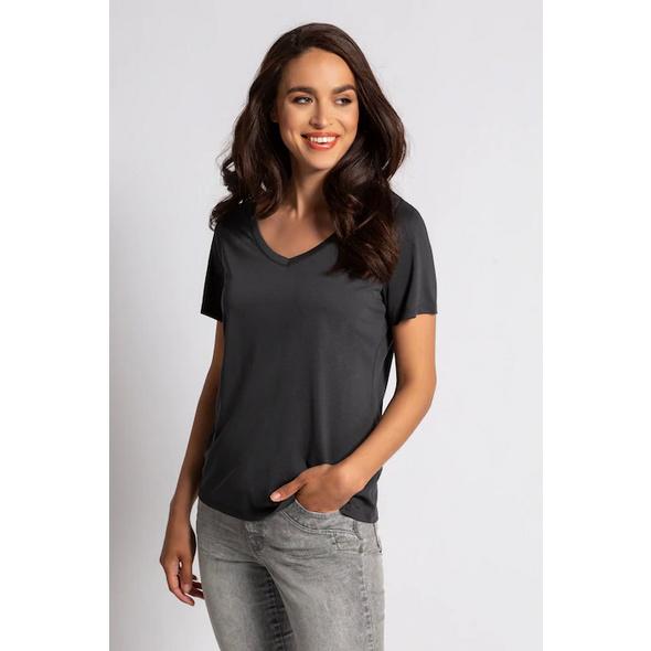 Gina Laura T-Shirt, V-Ausschnitt, Modal-Jersey