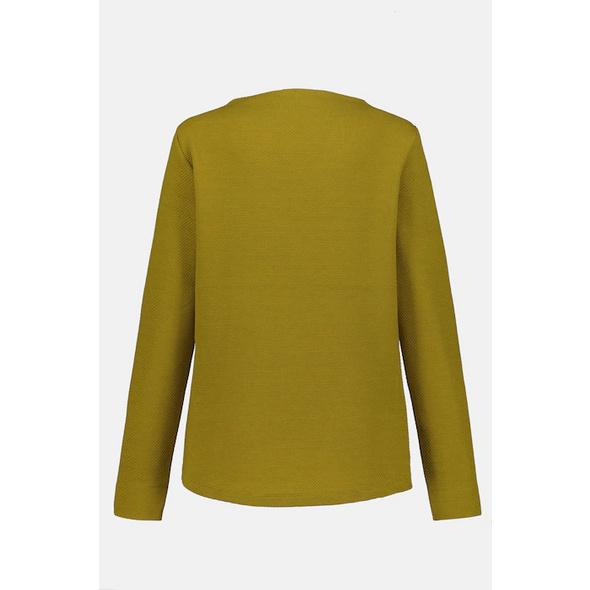 Sweatshirt, Strukturqualität, Stehkragen, Langarm