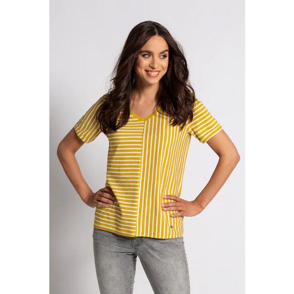 T-Shirt, Streifenmix, Biobaumwolle