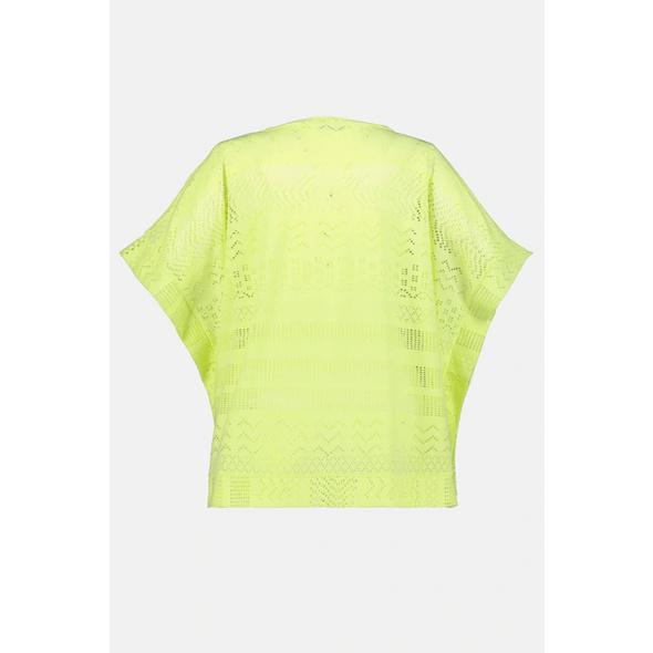 T-Shirt, Lochmuster, oversized