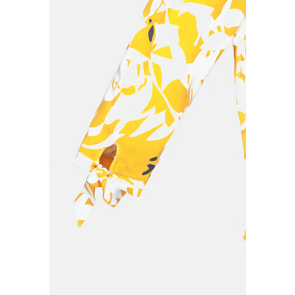 Tunika, Blütenmuster, 3/4-Ärmel, Zierschleifen