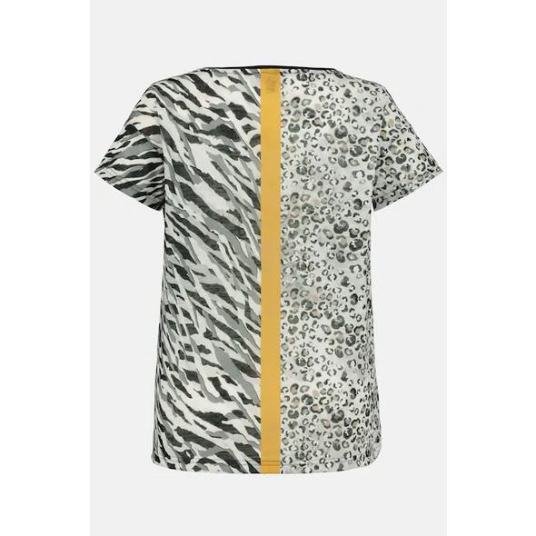 T-Shirt, Animalmuster, Farbstreifen