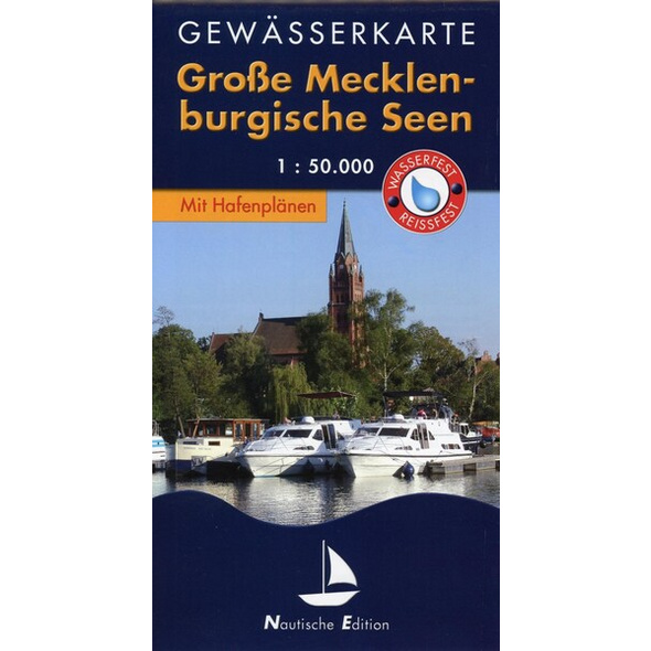 Gewässerkarte Große Mecklenburgische Seen 1 : 50 000. Nautische Edition
