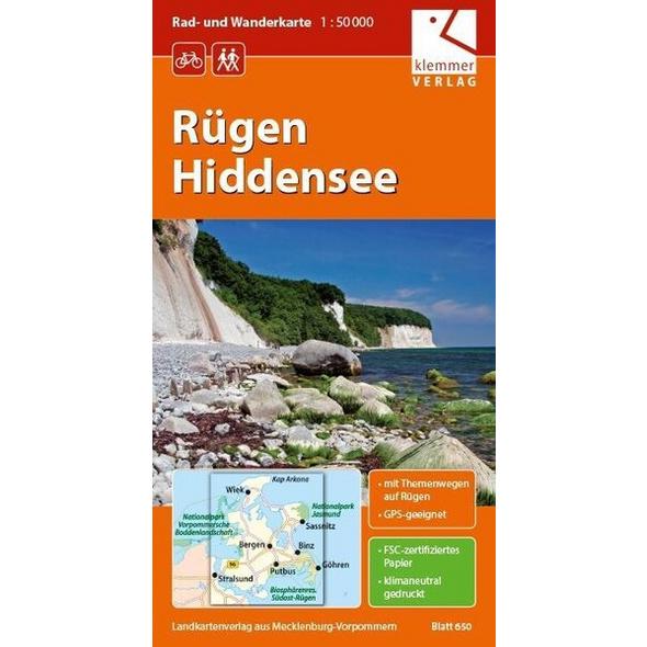 Rügen - Hiddensee 1 : 50 000 Rad- und Wanderkarte
