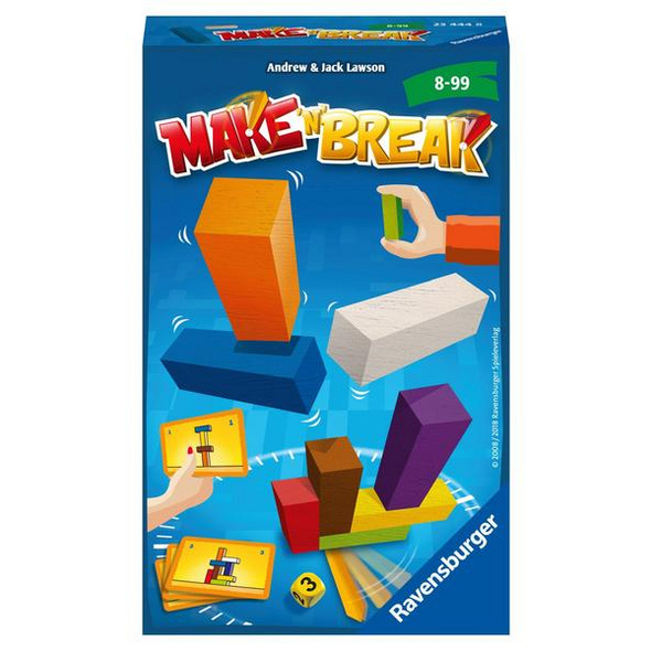 Ravensburger 23444 - Make n Break, Reisespiel, Mitbringspiel