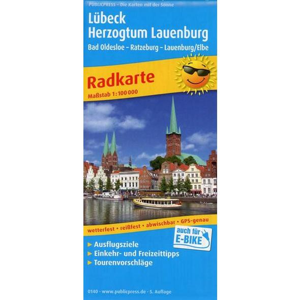 Lübeck - Herzogtum Lauenburg, Bad Oldesloe - Ratzeburg - Lauenburg/Elbe 1:100 000