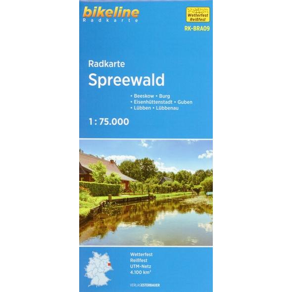 Bikeline Radkarte Deutschland Spreewald 1 : 75 000