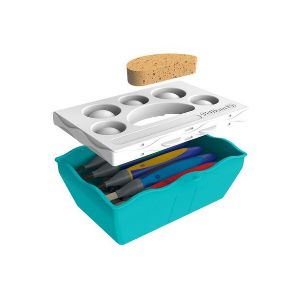 Pelikan Kreativfabrik Basisset groß inkl. 5 griffix® Pinseln und 5 Temperafarben