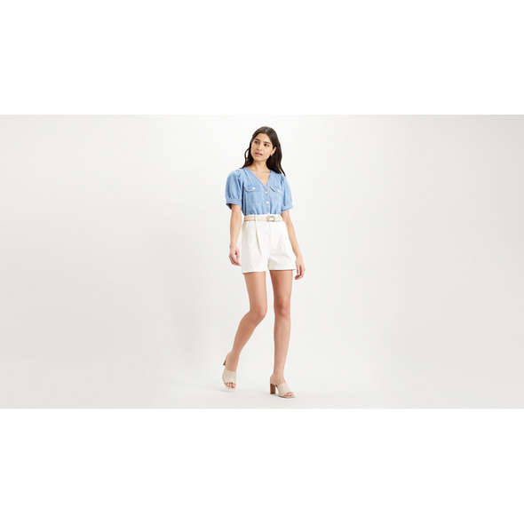 Pleated Utility Short