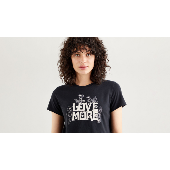 THE PERFECT TEE LOVE MORE CAVIAR GRAPHIC
