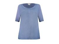 Shirt, Strukturjersey, Ziernaht vorne, Halbarm