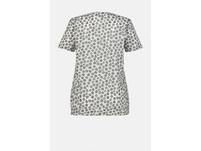 T-Shirt, Punkte, Blüten, Statement, Gummisaum